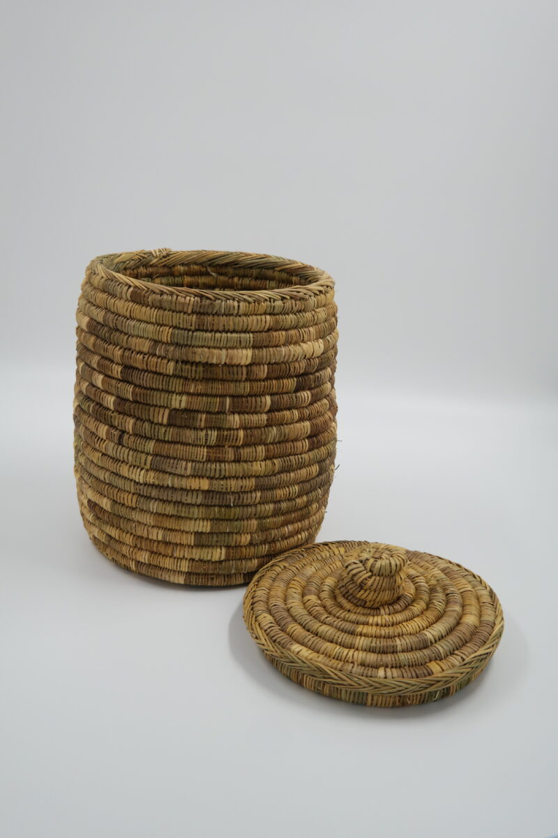 large wicker with lid
