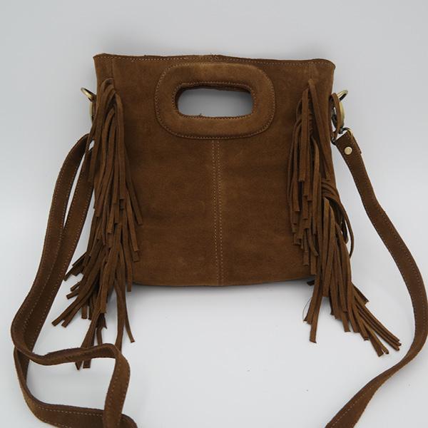 suede handbag brown