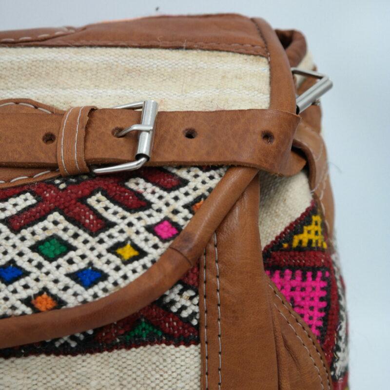 detail big large bag with kilim