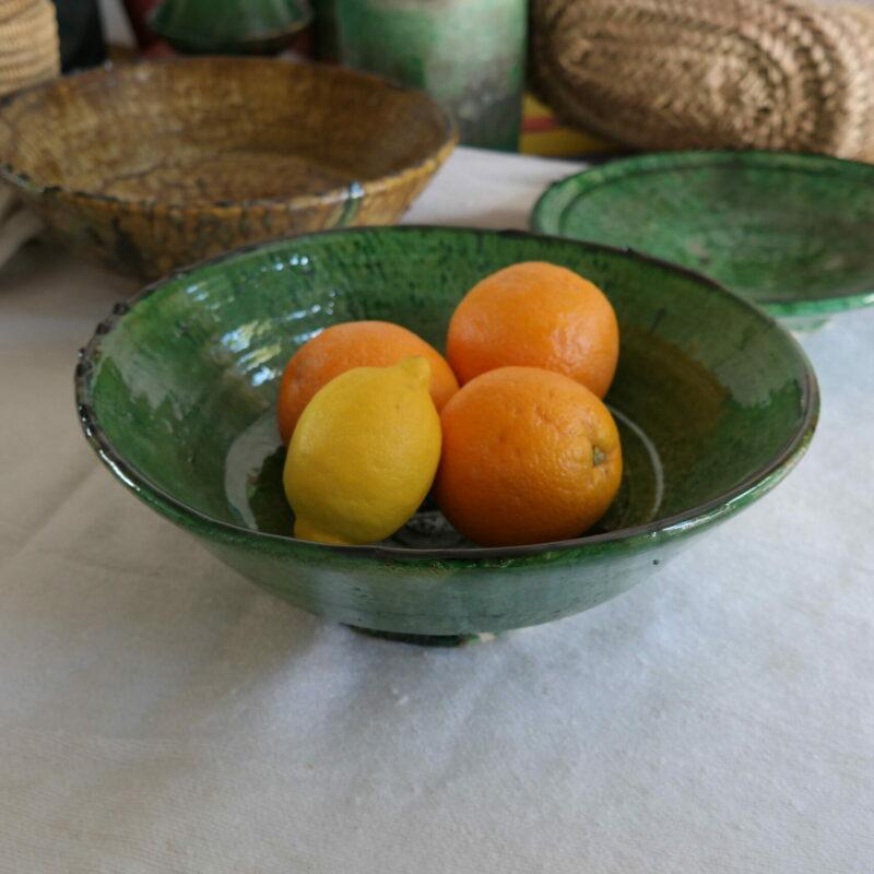 Large green bowl